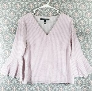 White House Black Market Pink Striped Top, size 10